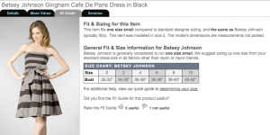 Great Resource: Revolve Clothing Fit Guide